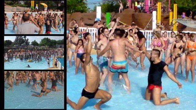 flashmob aquopolis 2014