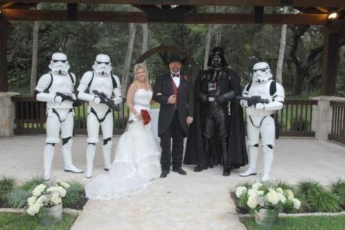Soldados Star Wars en boda